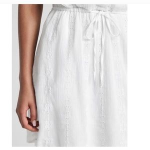 GAP Dresses - GAP • EYELET CRINKLE LACE SHIRT DRESS WHITE